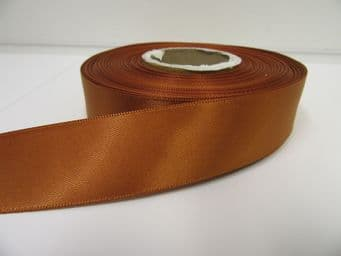 Copper Gold Satin ribbon Double sided 3mm 7mm 10mm 15mm 25mm 38mm 50mm Roll Bow